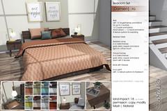Sway's [Damien] Bedroom Set - PG | Uber (Sway Dench / Sway's) Tags: uber sways bed bedroom sleep cozy wood succulent lamp art sl virtual