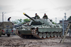 """""""Rollout!"""" (Connor Querin) Tags: ontario regiment museum oshawa tank tanks vehicle armour armor tonne canada military caf c2 leopard 1a5 tracked mbt afv german kmw deutsch"""