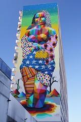 Okuda_2411 villa d'Este Paris 13 (meuh1246) Tags: streetart paris okuda villadeste paris13 joconde monalisa leonarddevinci