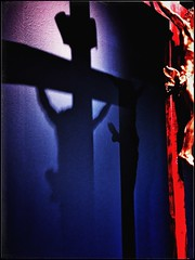 Invictus_ I am the captain of my soul (RoS_Roll over Shape_) Tags: timeless time soul bleu rouge mystical mystery mood calvary sculpture antonioraggi