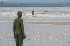 Walking On Water (Malc H) Tags: crosby crosbybeach anotherplace anthonygormley liverpool albertdocks beach sculptures coast ships waves sand sanddunes