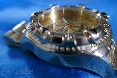 time's up (mariola aga) Tags: blue background bokeh reflection filter stars effect time wristwatch closeup art