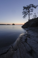 20170726-_DSC0073 (red1z) Tags: sunset water cliff silhouette siluet lake saimaa savonlinna