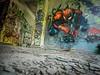 Artist : Unknown to me (France), Rhodiaceta (Sacha Medjedovic) Tags: graf graff graffiti mural street art spider man spiderman marvel comic