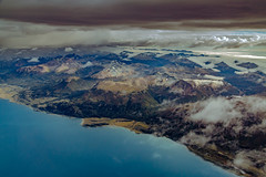 From the window to Tierra del Fuego (Valter Patrial) Tags: sky landscape lake sea winter water nature travel ocean flight snow mountain ice dawn glacier outdoors no person argentina flying chile tierra del fuego ushuaia patagonia austral