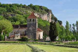 Eglise romane Notre-Dame de Velles (XIIe), Vers, Quercy, Lot, Occitanie, France.