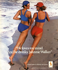 1988 Johnnie Walker ad (Tom Simpson) Tags: 1988 johnniewalker ad 1980s bikini ass woman girl beach jogger jogging jog ocean vintage ads advertising advertisement vintagead vintageads
