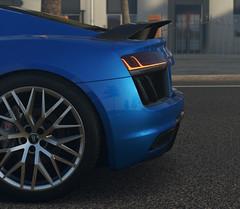 Audi R8 (Matze H.) Tags: audi r8 2016 v10 forza horizon 3 led street blue dust fog