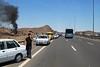 highway between Tehran and Qom (rob.brink) Tags: iran persia highway road car bus accident crash tehran teheran qom desert dessert