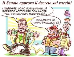 """SalVaccini (Moise-Creativo Galattico) Tags: editoriali moise moiseditoriali """"editorialiafumetti"""" giornalismo attualità satira vignette vaccini salvini"""