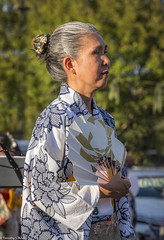 Elegant Dancer (allentimothy1947) Tags: calfiornia japanese sebastopol celebration dance dancing emanjitemple buddhist odon festival sonomacounty woman kimono fan dress culture traditional