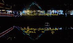 Mercado nocturno en Siem Reap, Camboya (Edgardo W. Olivera) Tags: siemreap camboya cambodia nightmarket artcenter microcuatrotercios microfourthirds panasonic lumix gh3 asia river río mercadonocturno reflejos