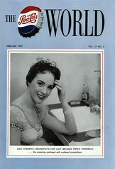 "Julie Andrews, Pepsi-Cola World Magazine Cover for Rodgers & Hammerstein's ""Cinderella,"" 1957 (classic_film) Tags: cinderella 1957 fifties 1950s tv television musical music musik julieandrews singer actress actrice actriz schön schauspielerin aktrice woman frau mujer girl celebrity hübschefrau hübschesmädchen mujerbonita niñabonita american history época ephemeral vintage retro nostalgic nostalgia añejo alt america fashion clothing clothes entertainment old jahrgang ropa kleidung romantic romance style prettygirl pretty beauty beautiful blackandwhite monochrome usa unitedstates oll advertising advertisement advert ad reklame anuncio anzeige printad publicidad publicité magazine magazinecover pepsi pepsicola"