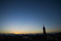Tramonto a Sommariva (lorenzo.groppo) Tags: sunset orange blue sky tramonti