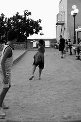 Bowling (sebastienvillain) Tags: corsica corse noiretblanc blackandwhite nb bw xseries xe2 streetphoto streetphotography kid enfant kids enfants bowl bowling boule boules petanque xf35mm