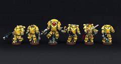 Imperial Fists Primaris Space Marines (Garry_rocks) Tags: lego mecha warhammer 40k spacemarine primaris imperial fists inceptor hellblaster intercessor