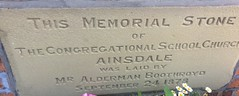 Ainsdale Station Rd Ainsdale Village Church Congregational School Church Memorial Stone Laid By Alderman Boothroyd Sept 24th 1878 (Formby Civic Society) Tags: ainsdale stationroad church memorialstone congregational 1878 aldermanboothroyd laid