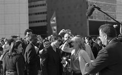 Tom Cruise in Paris  (April 2006) (flemi) Tags: tomcruise blackandwhite noiretblanc paris france canon elaniie ilford delta400