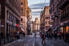 Una via del centro (agoralex) Tags: city street agoralex milano città peoples