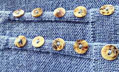 Buttons (sallyNZ) Tags: scavenger12 buttons jersey jumper handknitted