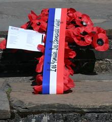 french wreath - les familles des Commandos Keiller (odysseus62) Tags: commandono4 achncarry speanbridge lochaber scotland france 2017 july kieffer tspharos commandomemorial fusiliers marins