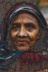 Old Woman Mosaico (by zurera) Tags: digital hd art collage retratos portraid zurera people fotomontaje image autoretratos mosaic