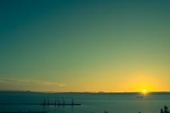 Lirquén (Sebastiandx) Tags: night lights ocean landscape sky blue sun concepción chile nikon d3200 sunset horizon photographer photography photos photo