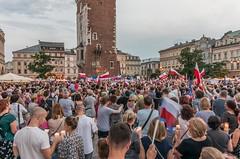 IMGP7313 (TomaszMazon) Tags: protest democracy krakow poland court antigovernment crowd