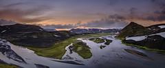 Midnight at Fjallabak Syðra (hauxon) Tags: iceland fjallabak markarflkjót blautakvísl dusk midnight xt2 fujifilm xf1024mmf4ois