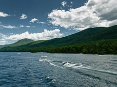 Tearing Thru The Waters (Brian D' Rozario) Tags: brian19869 briandrozario nikon d7000 d7k lake lakegeorge ny upstate newyork water cloud clouds cloudy mountain mountains mountainous landscape sport sports