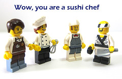 Wow, you are a sushi chef (WhiteFang (Eurobricks)) Tags: lego collectable minifigures series city town space castle medieval ancient god myth minifig distribution ninja history cmfs sports hobby medical animal pet occupation costume pirates maiden batman licensed dance disco service food hospital child children knights battle farm hero paris sparta historic ninjago movie sensei japan japanese cartoon 20 blockbuster cinema