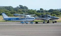 G-BKII (goweravig) Tags: gbkii swanseaairport swansea wales uk visiting aircraft cessna skyhawk