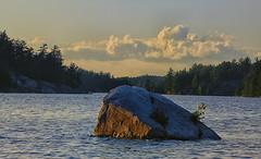 The Rock (Lindaw9) Tags: shanty bay northern ontario lake nipissing clouds treeline sky light evening