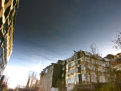 Inclined to Build (andressolo) Tags: reflections reflection reflected reflect reflejos reflejo city canal london building buildings hackney house houses homes water agua distortions distortion distorted