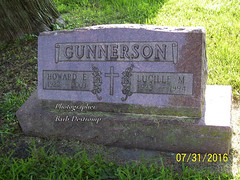 Headstone - Howard Earl Gunnerson and Lucille Olive Mockett