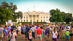 2017.07.26 Protest Trans Military Ban, White House, Washington DC USA 7630