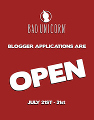 Bad Unicorn Blogger Applications are OPEN! (Bhad Craven 'Bad Unicorn') Tags: bloggers applications july 2017 bad unicorn badunicorn open applcation