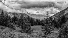 Kein Wanderwetter / No hiking weather (ludwigrudolf232) Tags: einfarbig wandern landschaft wolken schlechtes wetter gebirge tal