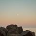 Moon, sea, calm