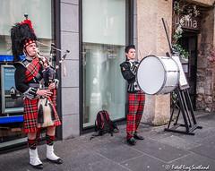 Buskers (FotoFling Scotland) Tags: 2015 arts drum edinburgh edinburghfestivalfringe royalmile august bagpipe busker drummer highstreet kilt performer promotion streetperformer streettheatre fotoflingscotland