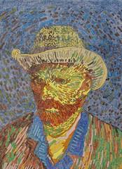 Autoportrait au chapeau de feutre gris - Van Gogh - 1887_0 (Luc II) Tags: vangogh autoportrait chapeau
