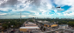 Panorama. (Aglez the city guy ☺) Tags: storm cityscapes clouds city colors airplane outdoors exploration experiment urbanexploration