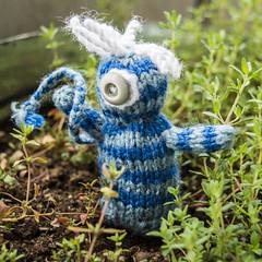 Uni (stitchling) Tags: knitty pocketcreatures