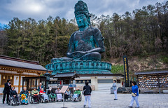 2017 - Japan - Aomori - Big Buddha (Ted's photos - For Me & You) Tags: 2017 aomori cropped japan nikon nikond750 nikonfx tedmcgrath tedsphotos vignetting showadaibutsu aomorishowadaibutsu showadaibutsuaormori greatbuddha buddha aomoribuddha people peopleandpaths wheelchairs