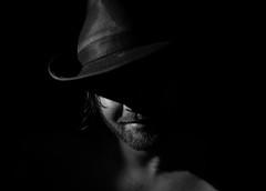 Subtlety (Lightcrafter Artistry) Tags: blackandwhite monochrome portrait selfportrait cowboy lighting shadows