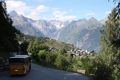 The classic walk from Zeneggen to Törbel (onno de wit) Tags: schweiz suisse svizzera svizra switzerland zwitserland wallis valais alps mountains törbel zeneggen burgen postbus bietschhorn