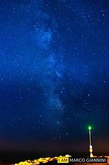 Via Lattea (Marco Giannini foto) Tags: marco giannini nikon d3100 nital montalto di castro viterbo vt mare sea faro