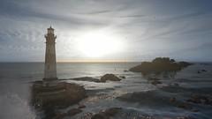 Lighthouse (Brandon ProjectZ) Tags: sea morning sunrise dessert lighthouse wave sky clouds