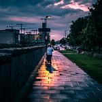 Walking the baby - Dublin, Ireland - Color street photography thumbnail