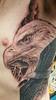 ALEX EAGLE CLOSE UP (Elijah Pashby) Tags: eagle tattoo tattoos blackandgray coverup man mens nature flight flying